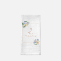 Personalized Tea Towel Floral Family _ Mock Up