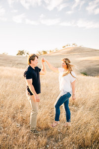 Paso Robles oaks engagement photo