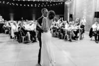 Bride and groom having their first dance at their wedding at Paso Robles, California. Wedding photo taken by Cheers Babe Photo.