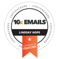 lindsay 10x Emails Badge