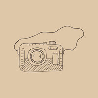 drawn camera graphic