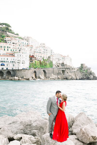 Engagement photo in Amalfi