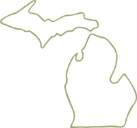 outline of michigan