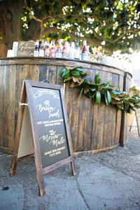 Custom Bar at the Hermitage Museum Norfolk Wedding