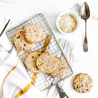 Two Ingredient Banana Coconut Cookies