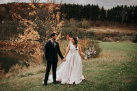 Fall Wedding Bride and Groom Nostrano Vineyards Fall Wedding Hudson Valley Wedding Planner Canvas Weddings