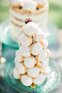 cream puff tower for sweet table