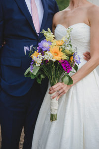 Wildflower wedding bouquet - Denver wedding photographer