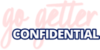 pink and blue logo of Go Getter Conidential