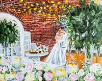 Annapolis Maryland Governor Calvert House Live Wedding Painting
