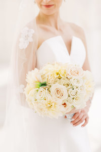 Blush bouquet at Army Navy Club Wedding in Washington DC