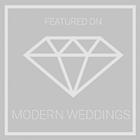 Featured On Modern Weddings Grey Logo