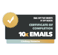 10x Emails - Badge of Completion - LH-01