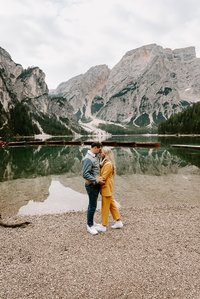destination elopement photographer documenting an adventurous elopement