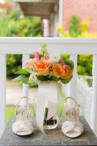 Baltimore Wedding Photographer -  Wedding Flowers and shoes