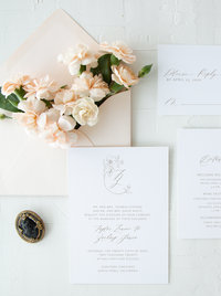 Calligraphy Wedding Crest and Monogram
