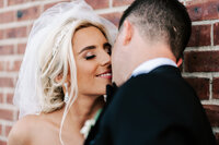 new jersey wedding photography for a couple sharing a kiss after their first look session