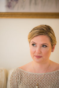 Photography of a Baltimore bride prior to her wedding