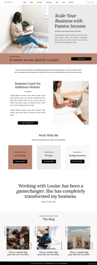 Mobile Angelica Showit template for coaches, creatives and photographers