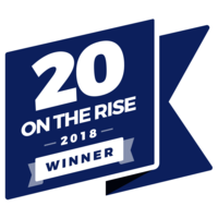 20 on the rise winner badge by rising tide society, honeybook, gusto and peerspace