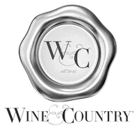 black and white Charlottesville wine and country magazine badge