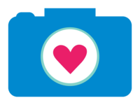 camera icon pink