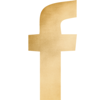Gold Gradient Facebook Icon