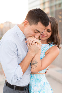 Engagement photographer in Phoenix capturing a young couple getting engaged