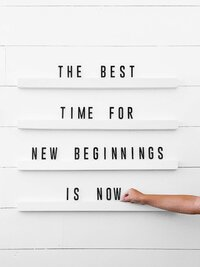 "24"" Letter Baord Wall Quote- THe Best Time For New Beginnings Is Now"
