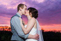 Sunset bride and groom portrait at The Josephina in Dry Ridge.  Off the Film Photography creates a fun and stress free experience.  We are located in Cincinnati Ohio.