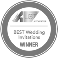 Indy A-List Best Wedding Invitations in Indianapolis Winner 2017