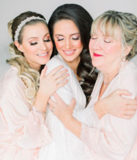 Bride with Mom and Sister