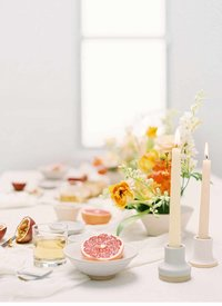 floral fruit tablescape
