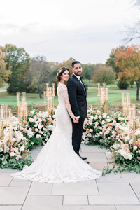 Terrace on the Park wedding ceremony photo captured by NYC wedding photographer Myra Roman