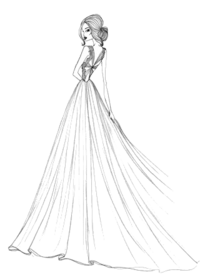 Wedding Dress Graphic