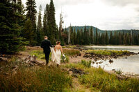 EMILY VANDEHEY PHOTOGRAPHY -- Bend Wedding Photographer -- Kerrie + Tyler -- Tetherow - Sparks Lake -- BRIDALS-123