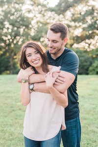 Blue hills engagement photo