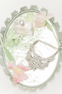 wedding details flatlay