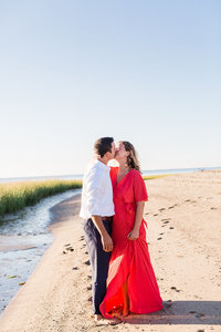 engagement session  on the beach on cape cod