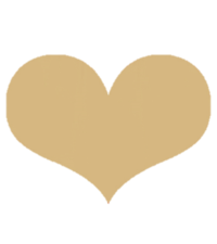 clear gold heart