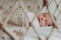 lifestyle newborn photography in home