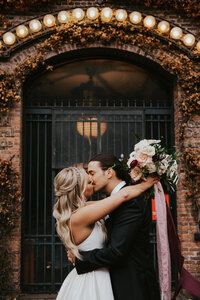 Mackenzie and Joe at the 101 in  Seattle for their wedding