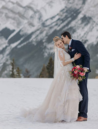 fairmont banff springs winter wedding photography surprise corner