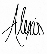 Signature of Alexis, Willow and Oak's wedding planner in Provence, South of France