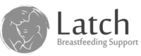 A grayscale logo for Latch Breastfeeding Support.