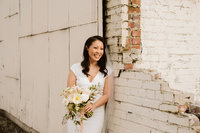 Bridal portrait of Metropolist Wedding by Sarah Anne Photo