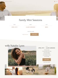 Customizable Showit Website Template for Photoraphers and Creatives