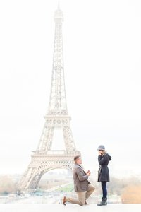 Eiffel Tower Paris Proposal | Amy & Jordan Photography