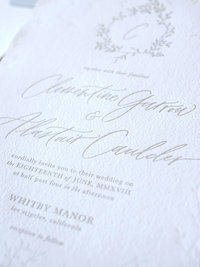 Semi-Custom Invitation Collection - Cascading Beauty 4-Piece Suite Closeup 3 Thumb