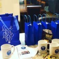 Cocktails and Chemo swag at a Sip and Support event